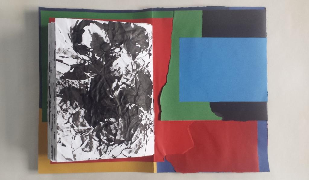 David Patrick Artists book collage