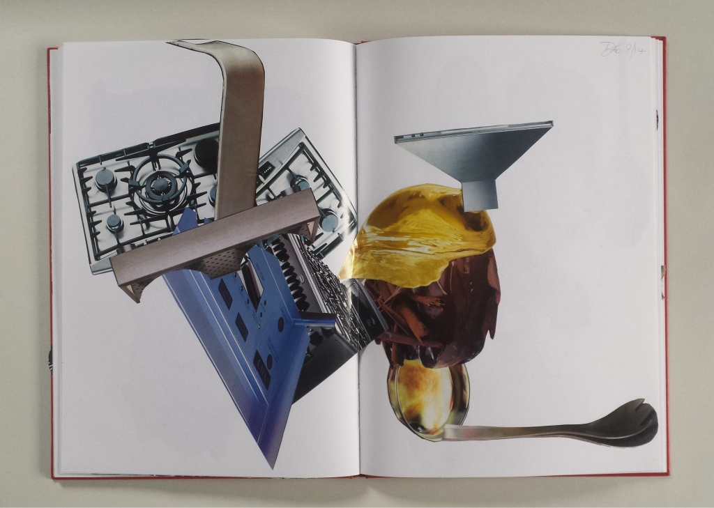 David Patrick Artists book collage