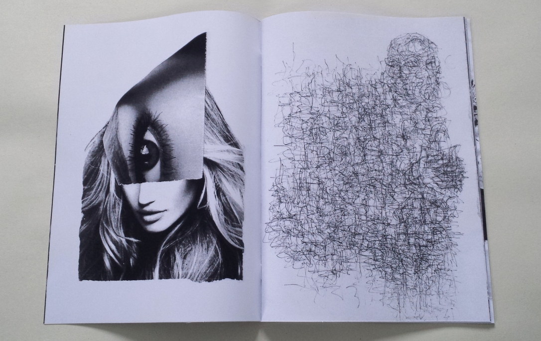 David Patrick Chocolate Leatherette page spread
